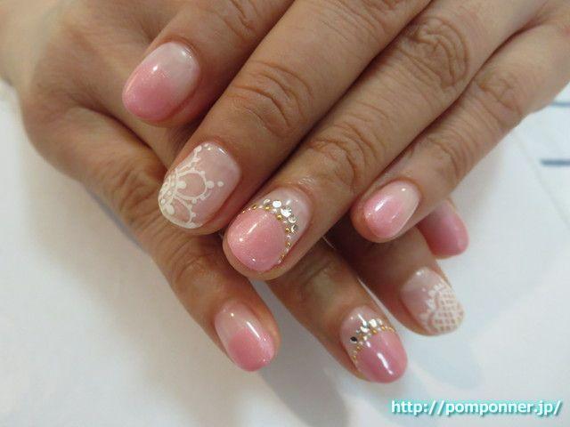 春カラー×レースアートネイル #nail #nails #名古屋市緑区ネイルサロン