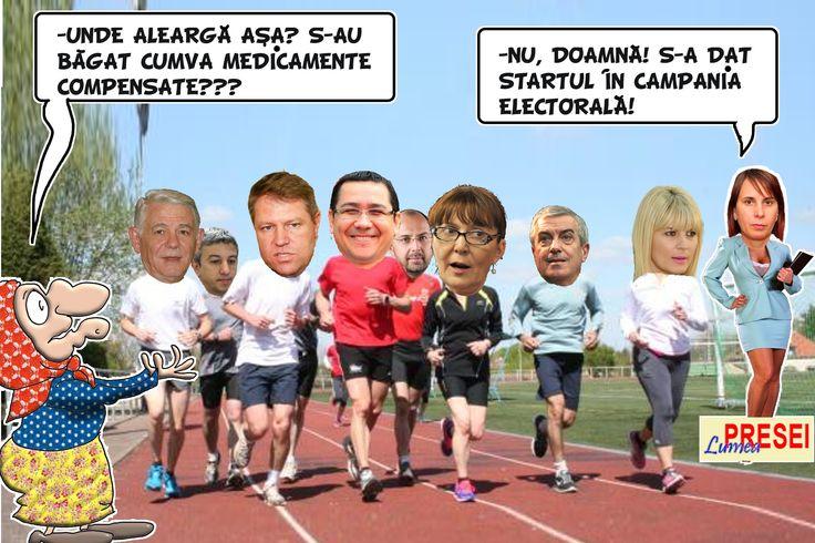 Unde aleargă aşa? S-au băgat medicamente compensate??? Nu doamnă! S-a dat startul în campania electorală!