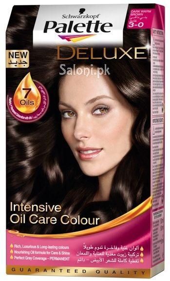 schwarzkopf palette deluxe intensive oil care color dark warm brown 3 0 - Schwarzkopf Coloration