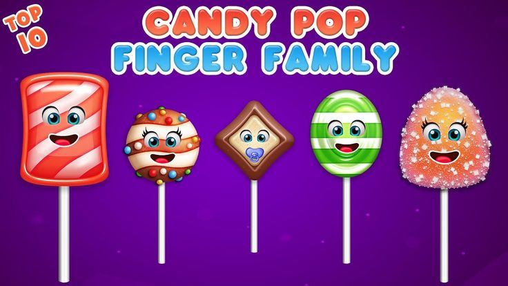 Candy Pop Finger Family Song | Daddy Finger Rhyme