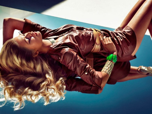 Heide Lindgren & Klara Wester for Guess by Marciano Spring 2012 Campaign by Hunter & Gatti  Excellent Hair & Makeup. Excellent use of light & reflection.