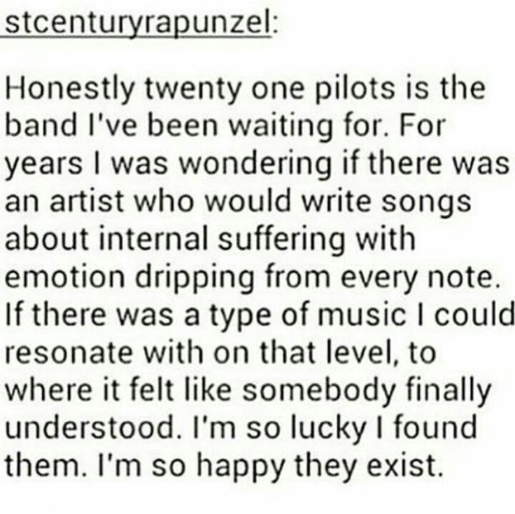 I'm so salty they're main stream now because I hear people sing them and I know they don't understand what the songs about and they don't really listen to the lyrics and I hate being upset they're getting so popular but I hate the fact that people don't really understand why Tyler wrote the song more - that's exactly how I feel