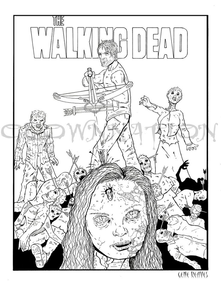 walking dead coloring pages to print | WALKING DEAD art