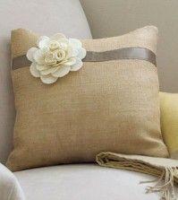 Capa de almofada com flor