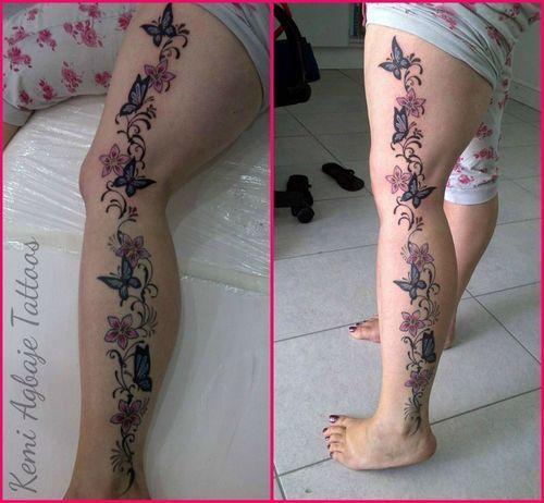 Image result for modern tattoo styles for women legs