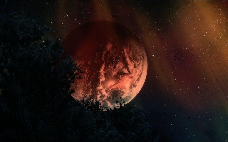1680x1050 Wallpaper planets, stars, sky, night, dark, art, 3d