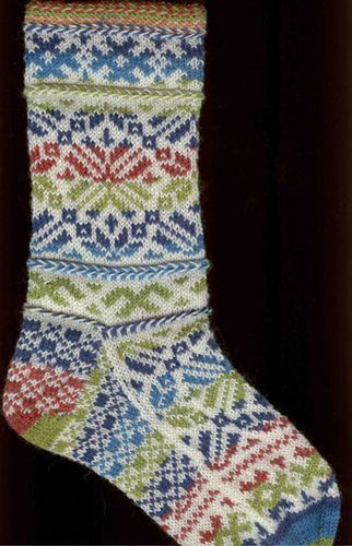 Latvian Wedding Socks by Robyn Gallimore; gah, how I love two-color knitting!