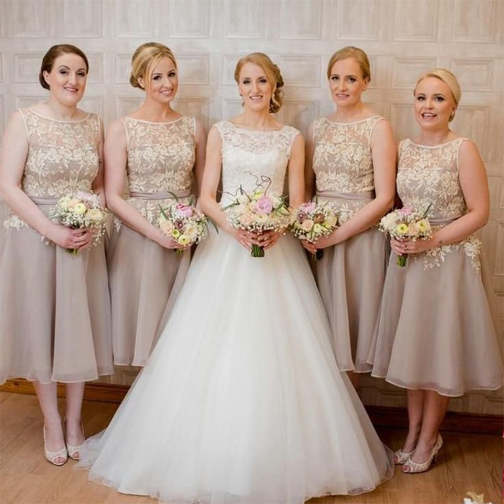 Find A Fashion Short Champagne Blue Bridesmaid Dresses