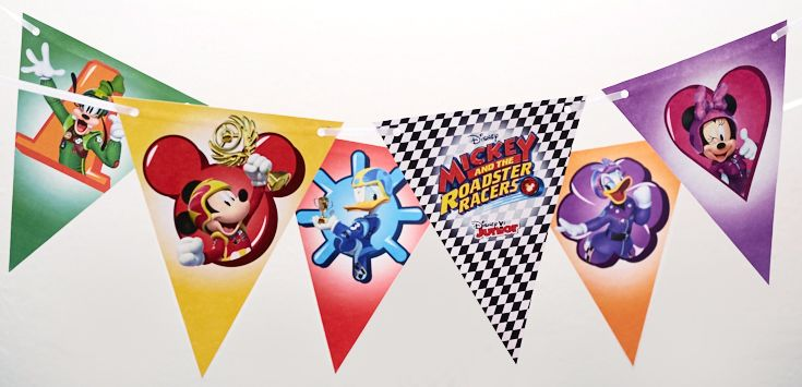 Mickey and the Roadster Racer DIY flags