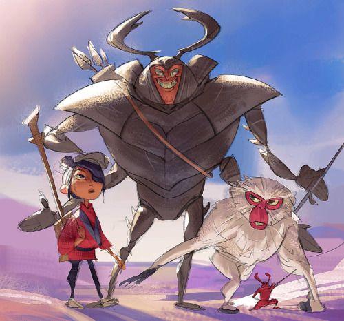 Kubo, Beetle & Monkey - Ramon Nunez
