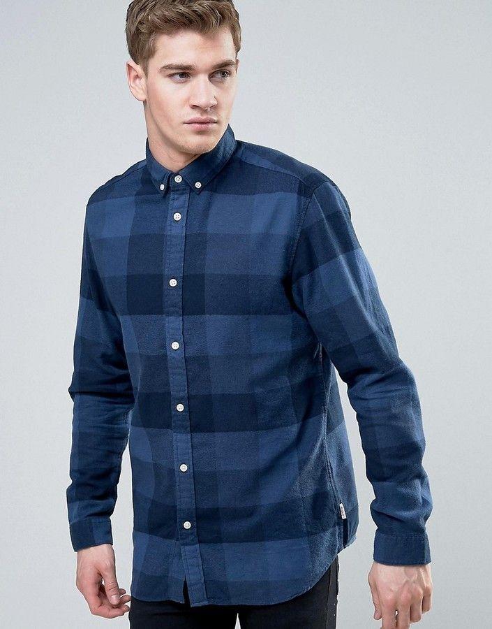 Jack and Jones Originals Shirt in Slim Fit Check Cotton