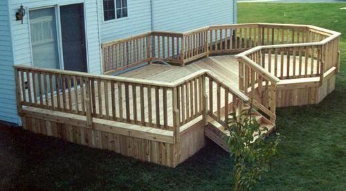 12 X 16 Deck W 10 Octagon Plan At Menards Modern Design Deck Designs Backyard Patio Deck Designs Deck Design