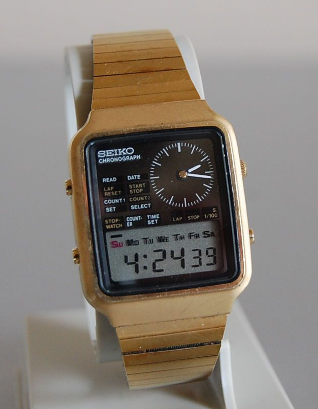 Vintage 1970s Seiko Chronograph Digital Wristwatch H127-5000 - The Aristocratic Jumble Sale - watches for men on sale online, gold mens watch cheap, bulova watches *ad #Cartierwatchesforwomen #menswatchesvintage