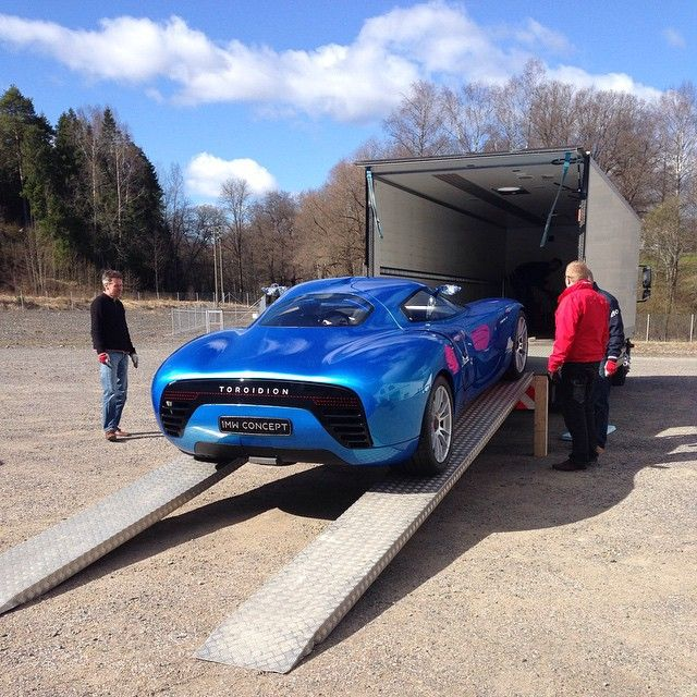 Unloading the Toroidion 1MW Concept from a trip to Monaco Top Marque and the global launch.