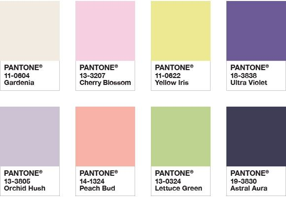 Groovy Pantone Color of the Year 2018 - Color Palette Floral Fantasies BV37