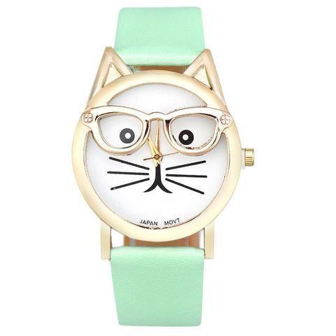 Susan Stone Women's Leopard Leather Quartz Wrist Watch