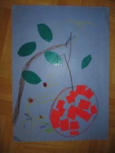 Apfel am Ast, Kleinkindaktivität basteln