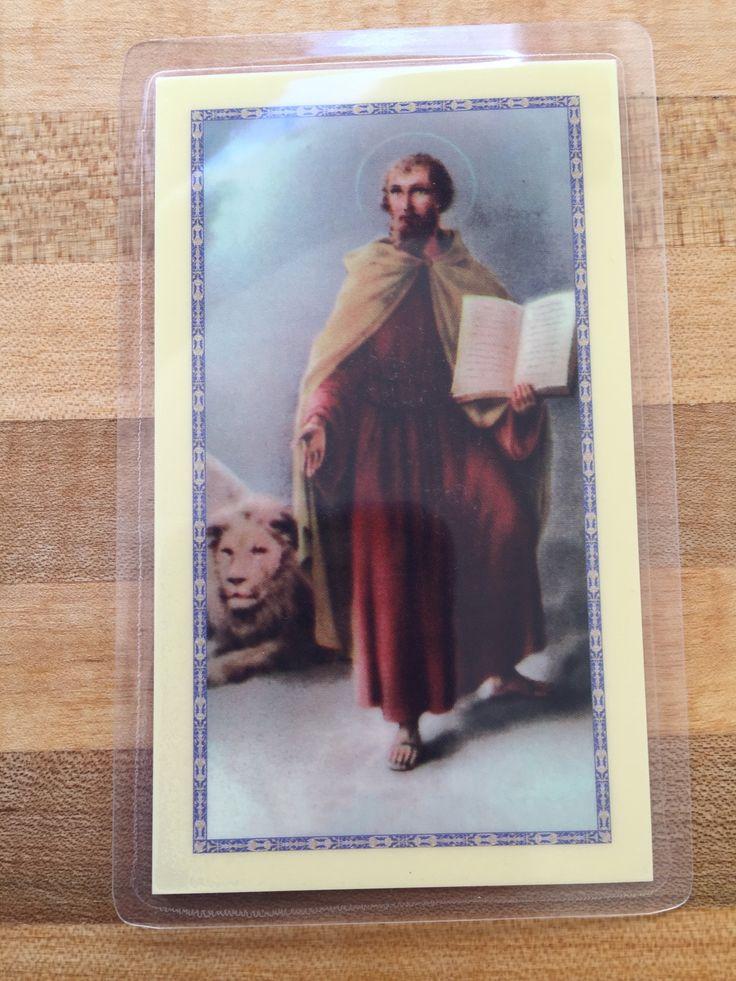 St. Mark the Evangelist Laminate Holy Card