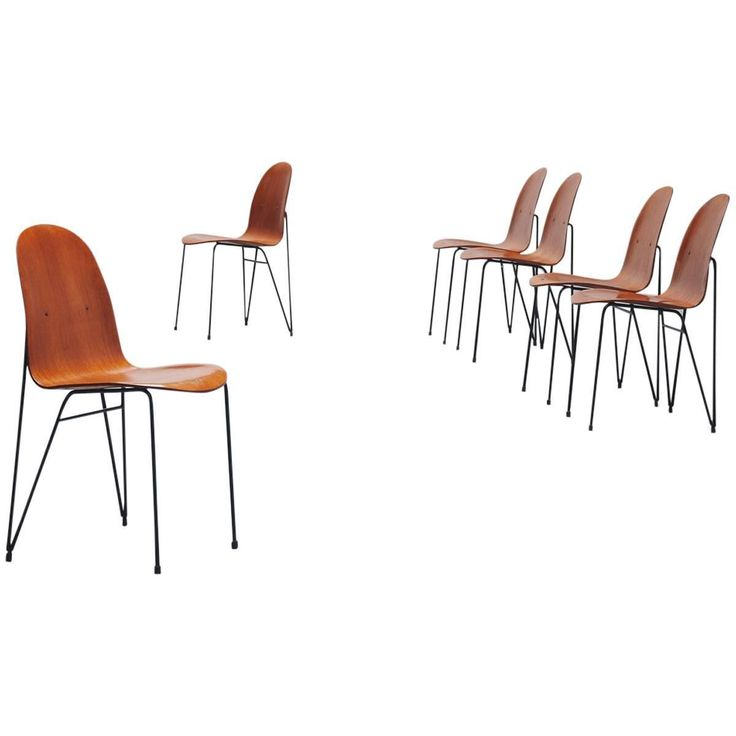 Plywood Dinner Chairs Made in Italy, 1950 | From a unique collection of antique and modern dining room chairs at https://www.1stdibs.com/furniture/seating/dining-room-chairs/