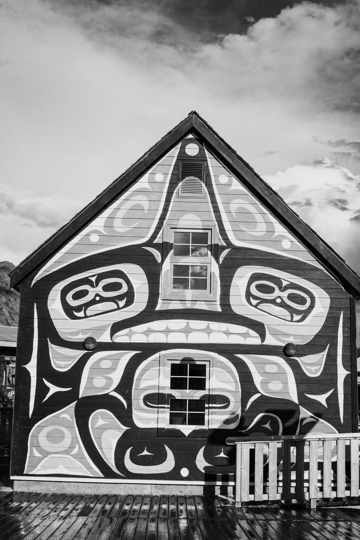 One of the beautiful buildings in Carcross Commons in Carcross, Yukon.