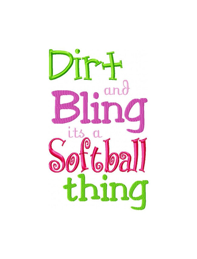 Softball Thing Embroidery Softball Saying by ezappliqueal on Etsy, $2.99