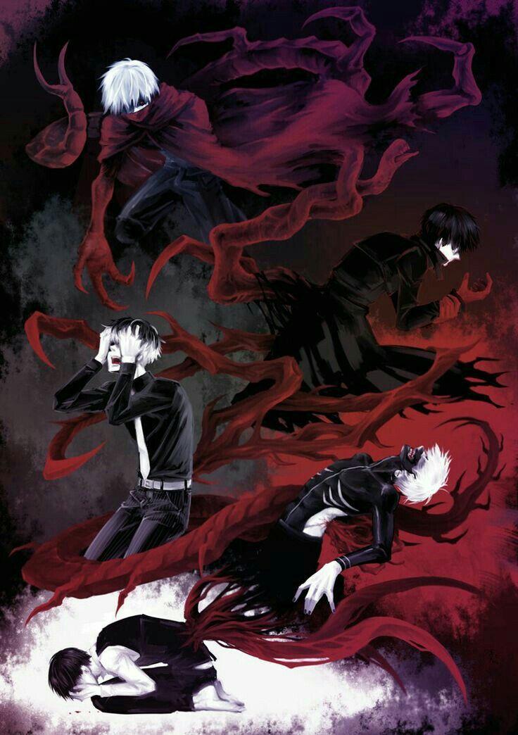 Tokyo Ghoul   Tokyo Ghoul: RE   Kaneki   Haise Sasaki   The Black Reaper     The One Eyed King  