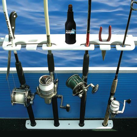Taco Deluxe Pontoon Boat Rod Holder And Tackle Rack 92454