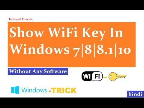 How To Show WiFi Password On Windows 8.1 - Hindi Urdu #techtspot    https://youtu.be:443/5noTYIvp52Y?1756239787=1510757792