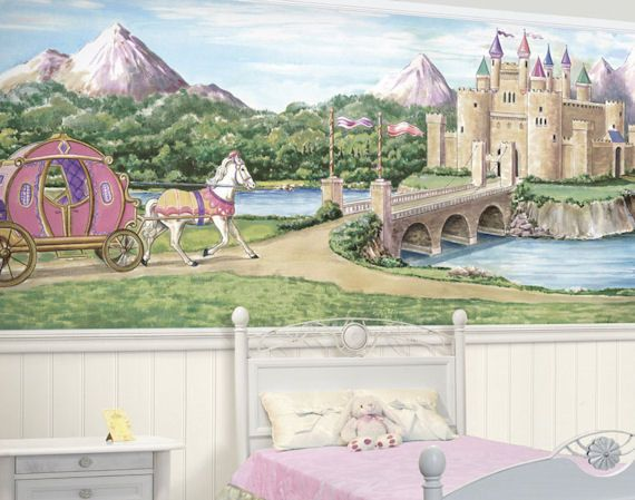 17 best images about jessie 39 s room on pinterest canopy for Fairy princess mural