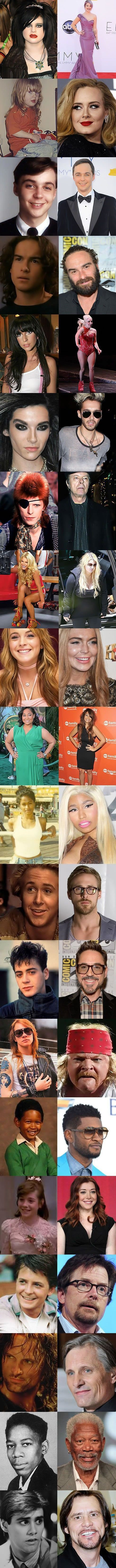 20 Photos that Show How Celebrities Changed Over Time.. Some of the changes are really radical..