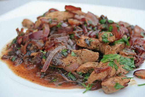 Foie de veau et fondue d'oignons rouges | Chez Becky et Liz, blog de cuisine anglaise