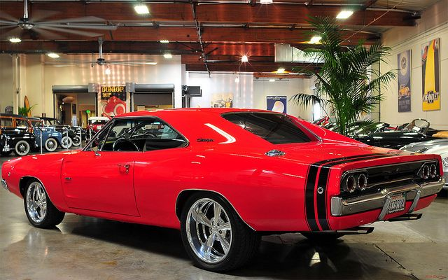 1968 Dodge Hemi Charger R/T - 71582 Bright Red - rvl by Pat Durkin - Orange County, CA, via Flickr