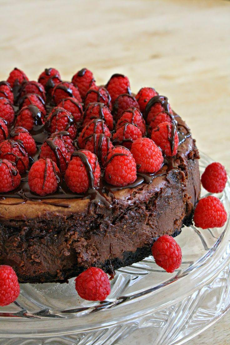 Emily Made That: Dark Chocolate Raspberry Mousse Cheesecake