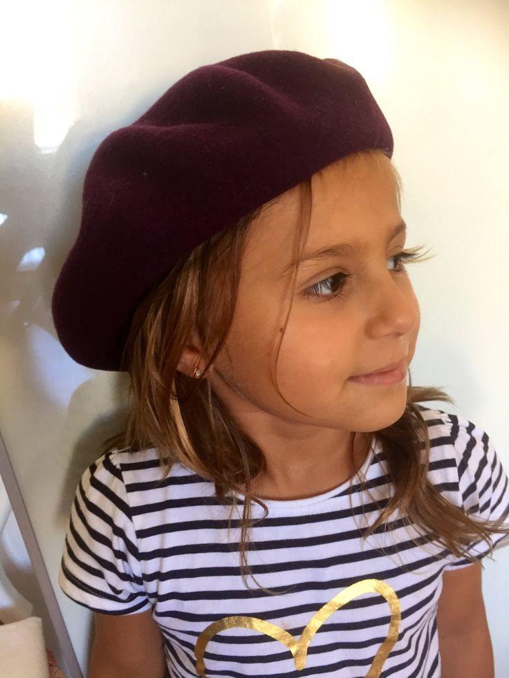 Kid's/1980s/purple/beret/wool/girl's by WifinpoofVintage on Etsy