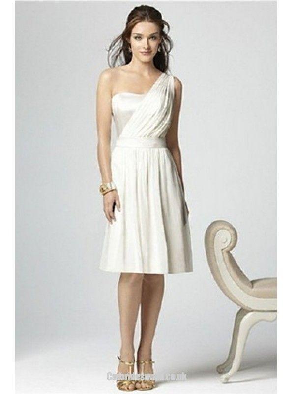 2013 beautiful bridesmaid Ruched One Shoulder Hourglass Sleeveless Uk Bridesmaid Dress fashionweddingdress