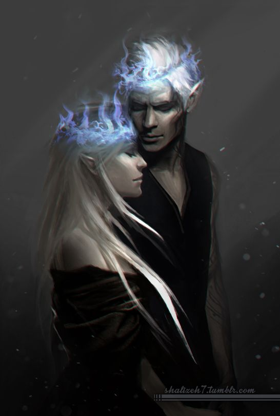 Aelin Galathynius x Rowan Whitethorn by shalizeh7. Empire of Storms. Sarah J Maas. Rowaelin