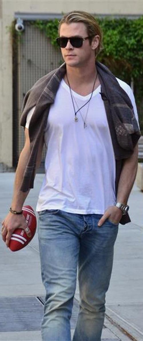 Chris Hemsworth.  Machismo.