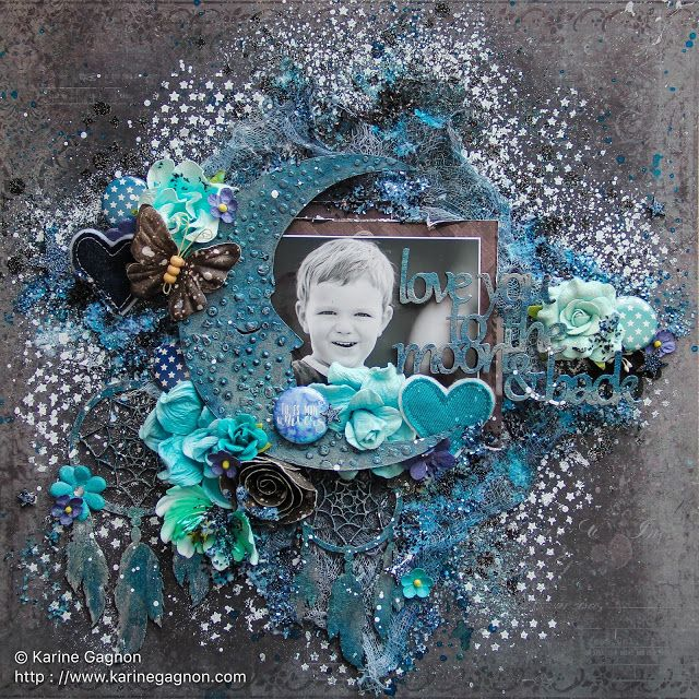 Image par image: Love You to the Moon and Back (2Crafty Chipboard)