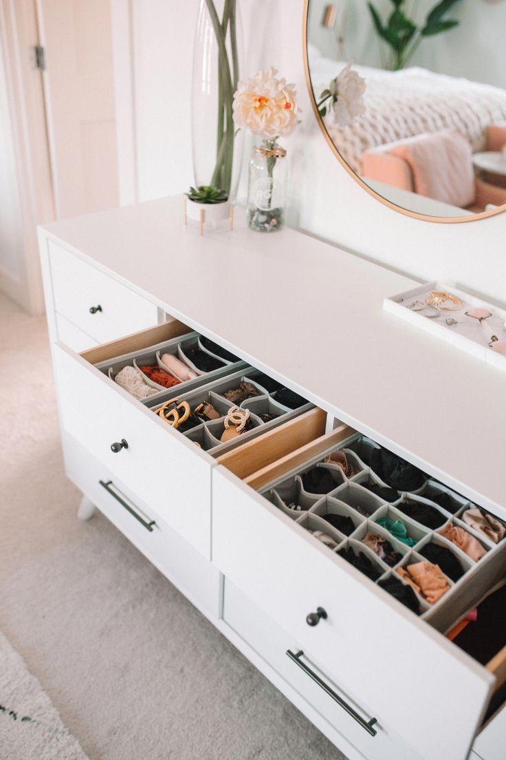 Wie Man Schubladen Im Schlafzimmer Organisiert Kleiderschrank Kleide Badezimmer Schrank Organisation Kommode Schubladen Organisieren Schlafzimmerorganisation