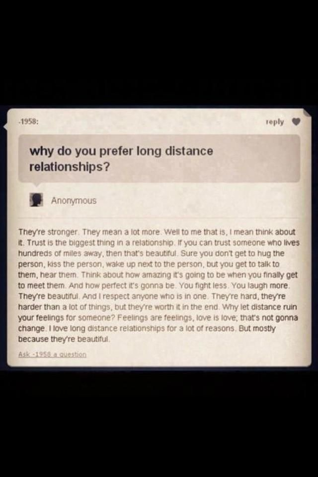 Long distance relationships are hard but it's worth it in the end