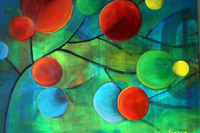 """""""Wind"""", Acrylic on canvas, 80x60cm. Artist:Iliana Gkini ( agilecolor )"""