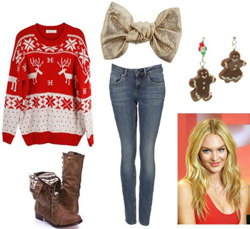 Tacky Christmas Sweater outfit - so cute