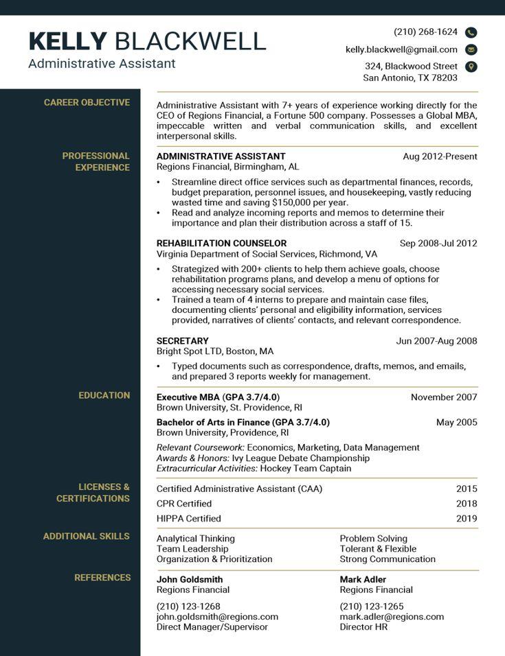 Resume builder in 2020 free resume template word best