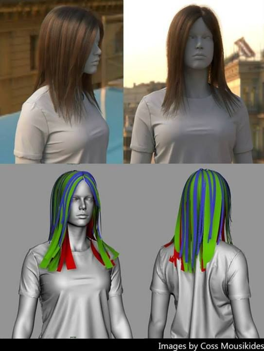 Hair using GMH2: Maya Hair Script www.cgmeetup.net/home/gmh2-for-maya-hair-script/ By Emily Bourdeau