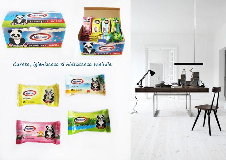 Servetele umede de buzunar, placut parfumate, in 4 sortimente: musetel, sensitive, ocean, mountain fresh: http://www.produse-horeca.ro/alte-spatii/servetele-umede-buzunar-36/display #misavan #curatenie