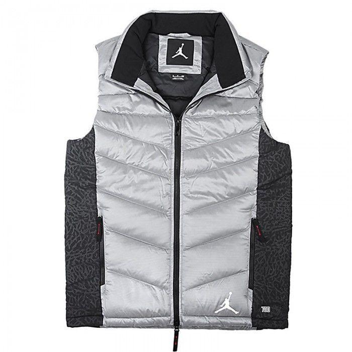 Nike Jordan 700 Hypeply Mens Puffer Down Vest Grey Goose Down Sz XL [623481 066] #Nike #Vests
