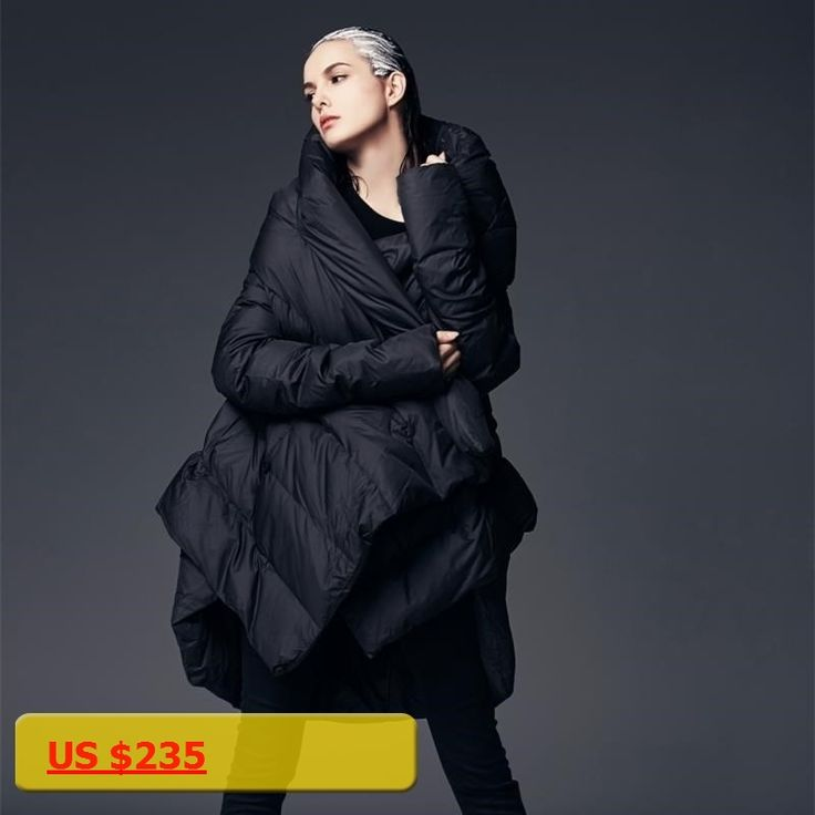 New Fashion 2017 Medium Long Duck Down Coats And Jackets Women Thicking Warm Hooded Cloak Parkas Femme Wine Red/Black