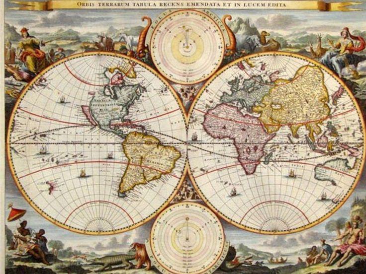 Antigo mapa do mundo