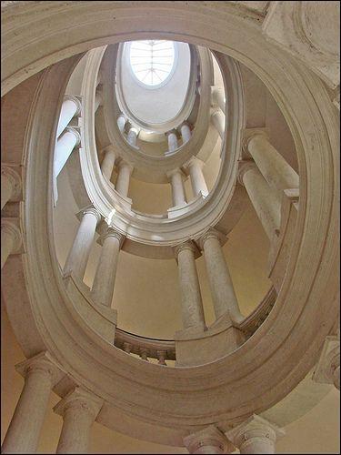 Palazzo Barberini (Rome) helicoidal staircase by Francesco Borromini, early 17th Century.