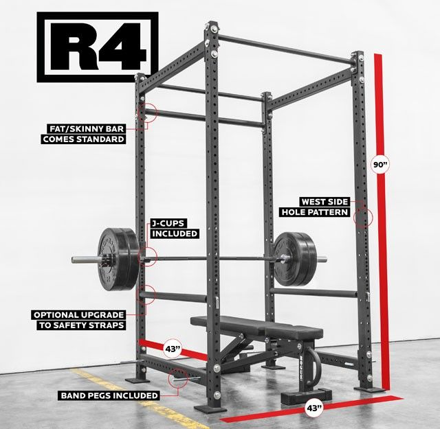 Rogue r power rack switch out for stabilizer arms add